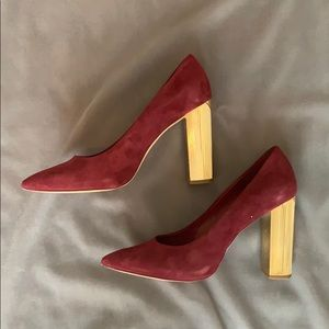 Michael Kors Burgundy Suede Pumps